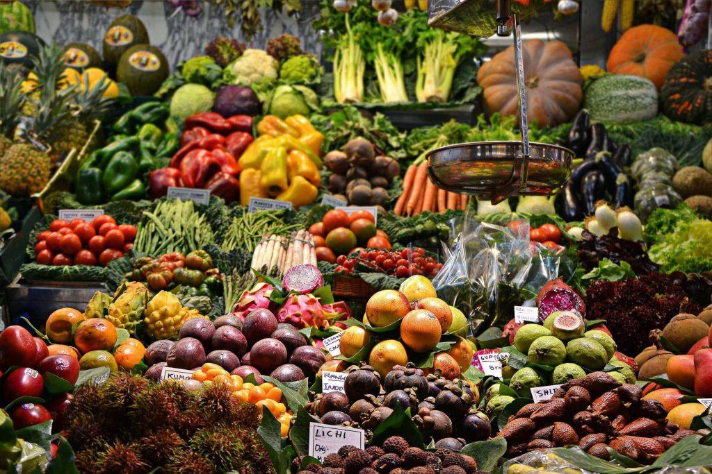 Frutas y verduras en la Boquería
